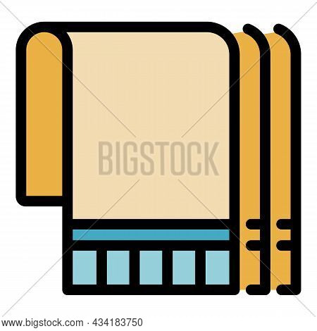 Wall Insulation Icon. Outline Wall Insulation Vector Icon Color Flat Isolated