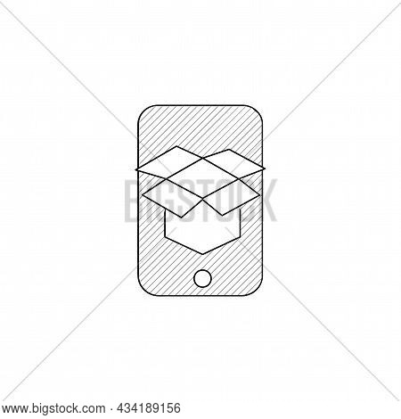 Ar App Vector Thin Line Icon. Ar App Hand Drawn Thin Line Icon.