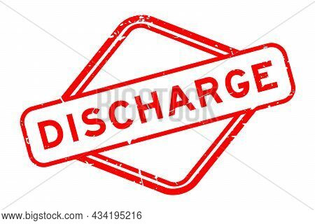 Grunge Red Discharge Word Rubber Seal Stamp On White Background