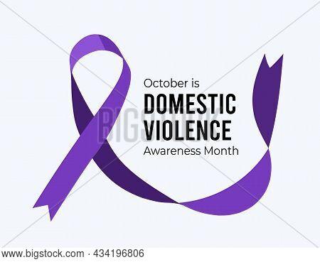 Domestic Violence Awareness Month. Vector Illustration
