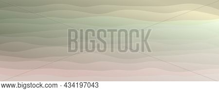 Abstract Waves Fluid Shape Levels Background Delicate Pastel Color Gradient. Trendy Template For Fly