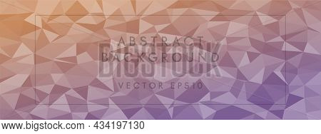 Low Poly Abstract Modern Background. Pastel Colors Chaotic Triangles Of Variable Size And Rotation.