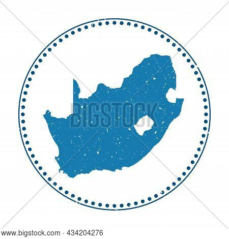 South Africa Sticker. Travel Rubber Stamp With Map Of Country, Vector Illustration. Can Be Used As I