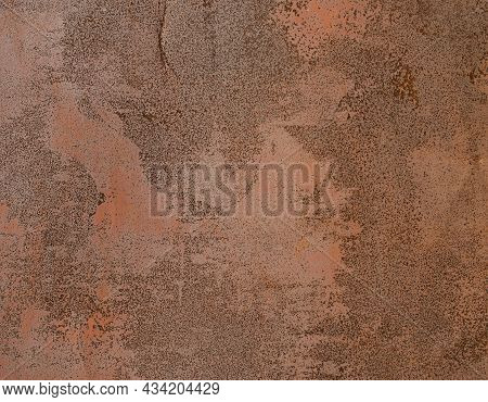 Old Metal Corroded Texture. Rusty Red Brown Texture. Abstract Background.