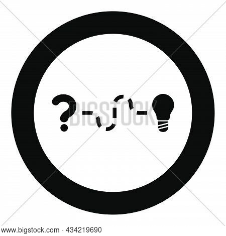 Concept Of Finding Solution To The Issue Question And Path To The Light Bulb Searching For Innovatio