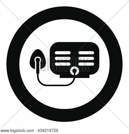 Inhaler Nebulizer Medical Aerosol Equipment Icon In Circle Round Black Color Vector Illustration Sol
