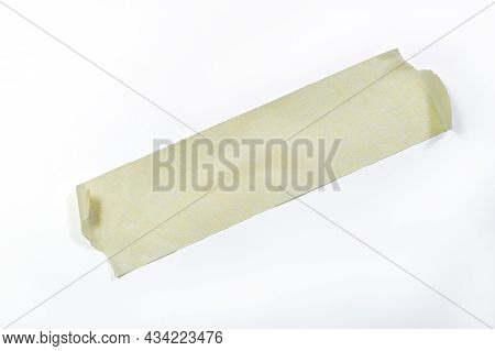 Close Up Of An Adhesive Tape On White Background With Clipping Path Included