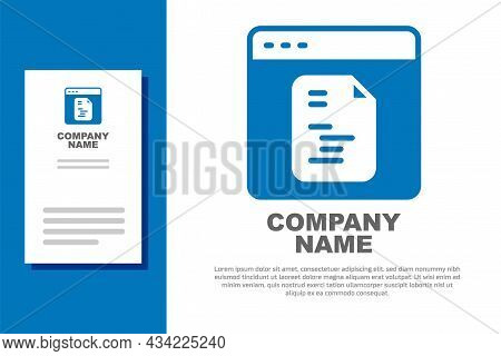 Blue Software, Web Developer Programming Code Icon Isolated On White Background. Javascript Computer