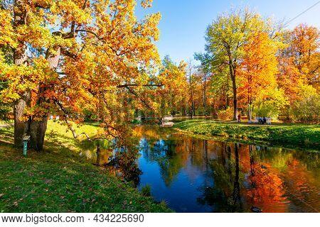 Catherine Park In Autumn, Pushkin (tsarskoe Selo), Saint Petersburg, Russia