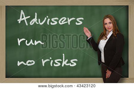 Teacher Showing Advisers Run No Risks On Blackboard