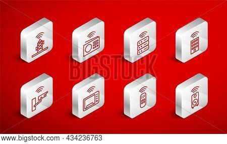 Set Line Smart Stereo Speaker, Radio, Server, Home With Wireless, Remote Control, Wireless Antenna,