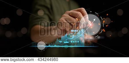 Startup Business Finance Technology And Investment Trading Trader Investor. Stock Market Investments