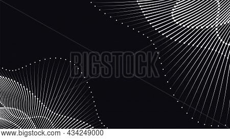 Wave Rhythm Dot Line Elements Dynamic Pattern Abstract Vector Background