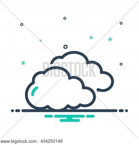 Mix Icon For Cloud Become-cloudy Cloud-over Blacken Smog Vapor Smoke