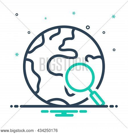 Mix Icon For Everything Each-item Each-thing All The-total Global Earth Research Map