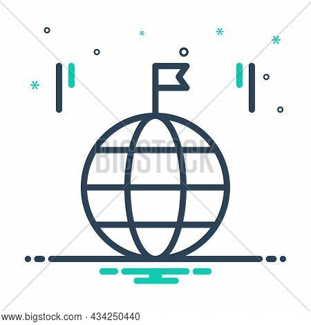 Mix Icon For Country Land Global Province Realm Field Region Zone Flag Kingdom Homeland Native-count