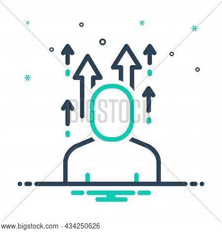 Mix Icon For Evolve Develop Progress Make-progress Advance Move-forward Cultivate Expand Mature Germ