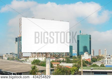 Billboard Or Advertising Poster On Building For Advertisement Concept Background