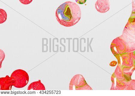 Pink marble swirl background handmade feminine flowing texture experimental art