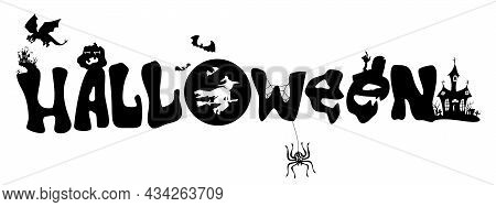 Colorful Intricate Lettering For Halloween Holiday Vector