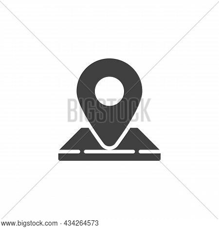 Address Location Pin Vector Icon. Filled Flat Sign For Mobile Concept And Web Design. Map Pointer Gl