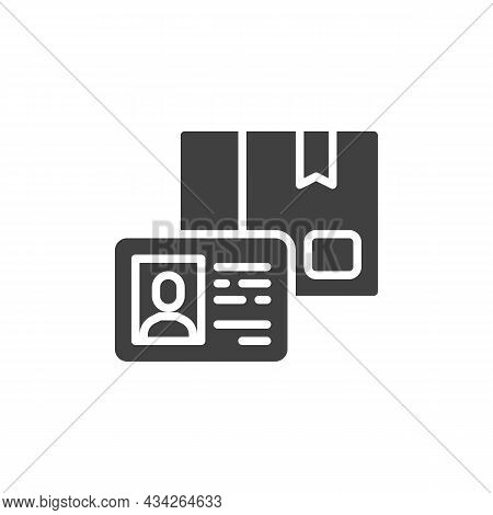 Membership Card Vector Icon. Filled Flat Sign For Mobile Concept And Web Design. Loyalty Card Glyph