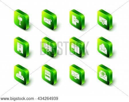 Set Envelope, Mobile And Envelope, Mail Message Lock Password, Outgoing Mail, E-mail, Document Folde