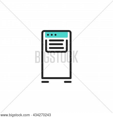 Portable Air Conditioner Line Icon. Linear Style Sign For Mobile Concept And Web Design. Portable Ac