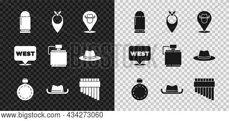 Set Bullet, Cowboy Bandana, Location Cowboy, Canteen Water Bottle, Western Hat, Pan Flute, Pointer T