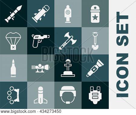 Set Bulletproof Vest, Flashlight, Sapper Shovel, Human Target Sport For Shooting, Pistol Gun, Box Fl