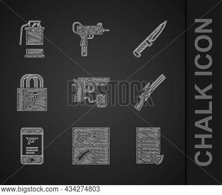 Set Buying Gun Pistol, Weapon Catalog, Firearms License Certificate, Hunting, Shop Weapon Mobile App