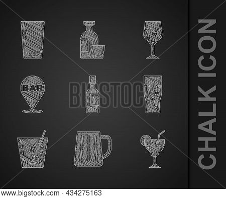 Set Champagne Bottle, Wooden Beer Mug, Cocktail, Glass Of, Bloody Mary, Alcohol Bar Location, Champa