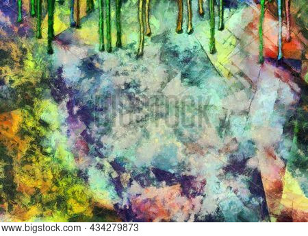 Grungy color abstract. 3D rendering
