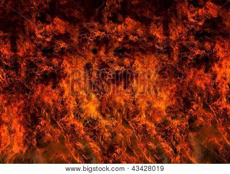Fire Flaming Full Frame