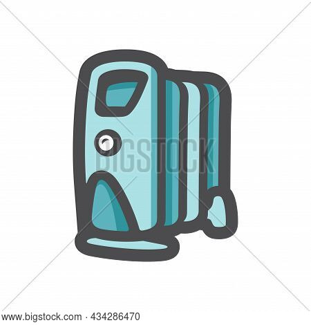 Electric Modern Heater Vector Icon Cartoon Illustration