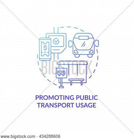 Promoting Public Transport Usage Concept Icon. Common Initiative Abstract Idea Thin Line Illustratio