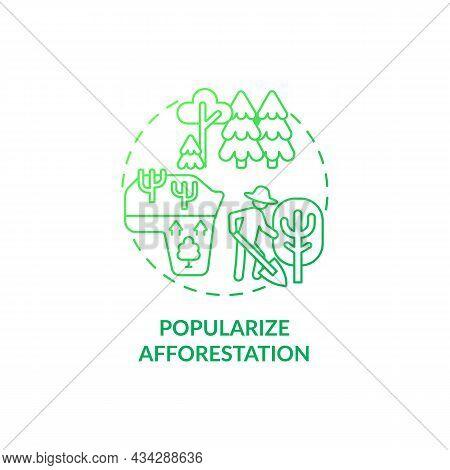 Popularize Afforestation Concept Icon. Common Initiative Abstract Idea Thin Line Illustration. Prote
