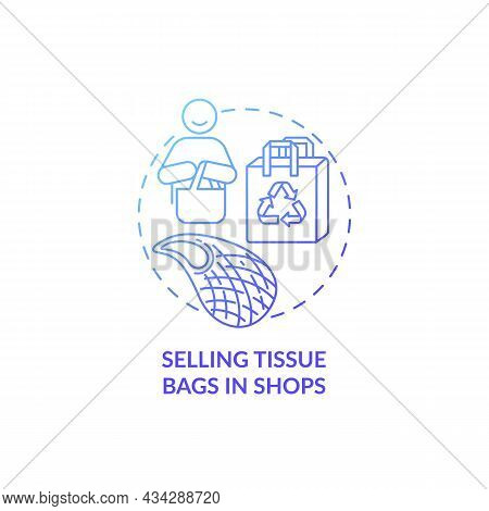 Selling Tissue Bags In Shops Concept Icon. City Solution Abstract Idea Thin Line Illustration. Envir