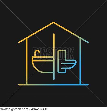 Sanitation Facilities Gradient Vector Icon For Dark Theme. Hygienic Conditions Maintenance. Accessib