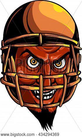 Vector Devil Or Satan American Football Sports Mascot Cartoon Character