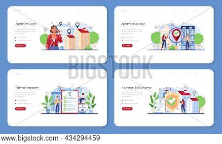 Real Estate Agent Web Banner Or Landing Page Set. Qualified Realtor