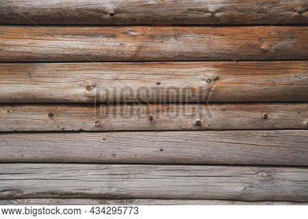 Background Of Wood Bars. Texture Made Of Wood Materials. Brown Background With Wood
