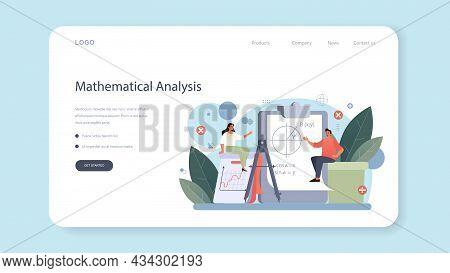 Mathematician Web Banner Or Landing Page. Mathematician Seek