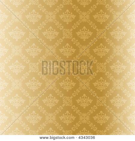 Seamless Gold Damask Pattern