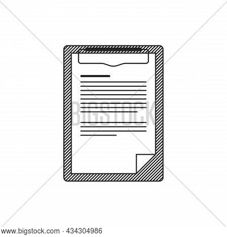Clipboard Icon In Simply Flat Style. Vector Clipboard Sign Symbol. Checklist Sign Symbol For Web Sit