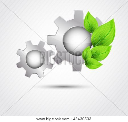 Gear with leaves