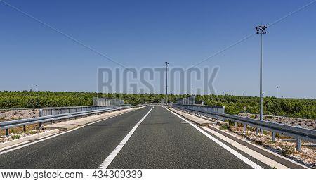 Highway Empty Bridge On The Road, Croatia.