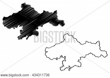 Ganderbal District (jammu And Kashmir Union Territory, Republic Of India) Map Vector Illustration, S