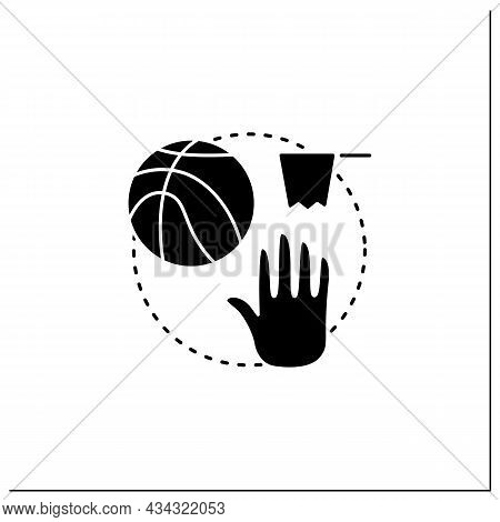 Team Sports Game Glyph Icon. Playing Games With Friends Online. Basketball Interactive Game. Competi