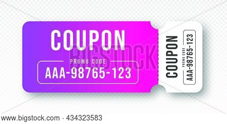 Discount Coupon And Gift Voucher. Discount Voucher, Gift Coupon Design. Colorful Coupon Template For